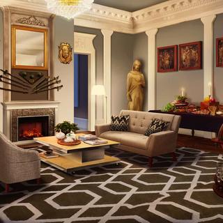 Living room in Castelsarreillan (Day)