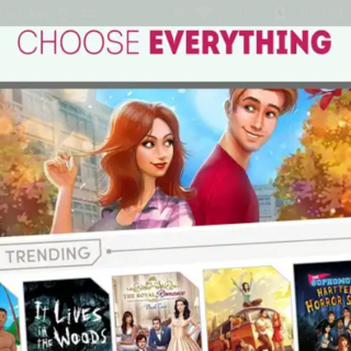Choose Everything Ad featuring part of TF: Game of Love Cover