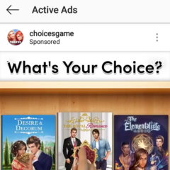 Choices Ad on Instagram 02/27/19 ft. TE, D&D and TRR