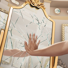 MC shatters a mirror in the Hall of Mirrors