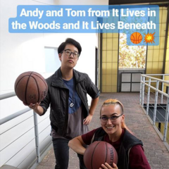 Kathleen  & Jessica dressed up as Andy and Tom
