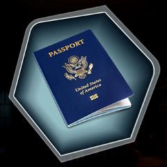 Modern US Passport seen in Dupre's safe