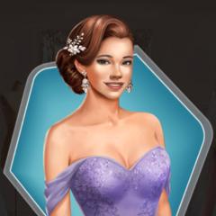 Lavender Bridesmaid's dress