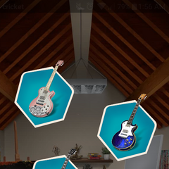 The three types of Makeover styles for Kaitlyn's guitar