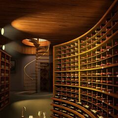 Wine Cellar in Old Hollywood Mansion