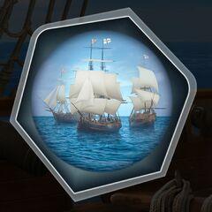 British Navy Blockade