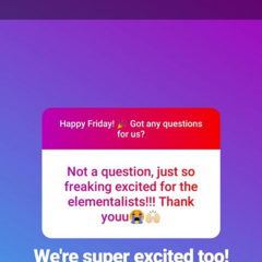 Part I info about The Elementalists on Insta