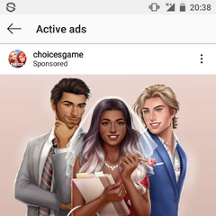 As seen in active ads