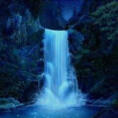 Waterfall at the South Pacific Island