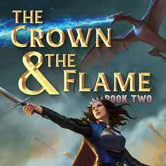Kenna on the cover of The Crown & The Flame, Book 2