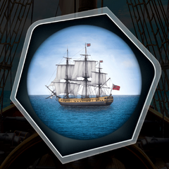 Cargo Ship through Spyglass
