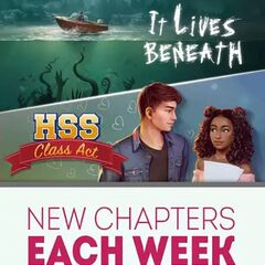 Ad featuring It Lives Beneath, High School Story: Class Act, The Elementalists & Perfect Match 2