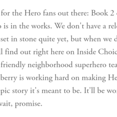 Status Update on Hero, Vol. 2