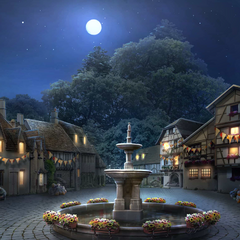 Grovershire Town Square (Night)