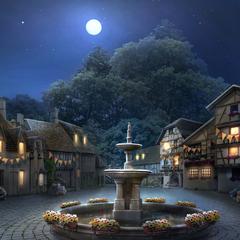 Grovershire Town Square (Night)