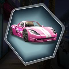 Hot Pursuit Pink Version of 2015 Stuttgart 999 Widow Car