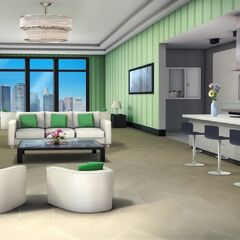 Living room in Penthouse option (Daytime)