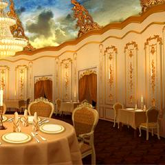 Inside Eiffel Tower Restaurant