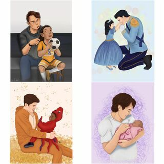 Father's Day (June 21, 2020) by Choices Tumblr fans @-the-everlasting-dream and @-boring-doll