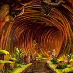 Log Flume Ride in Wilderness World in Enchantland