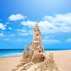 Elegant sand castle as seen in Ch.4