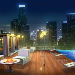 Pool in Penthouse option (Nighttime)