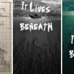 Brainstorming Process of It Lives Beneath Book Cover