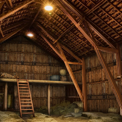 Oakley Ranch barn (interior)