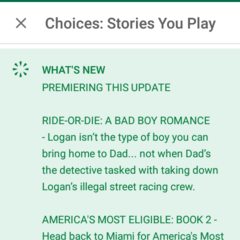 Google Play Summary from Choices App
