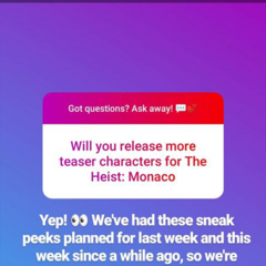 More TH:Monaco Teasers Coming Announcement on IG