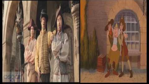 "Beauty and the Beast ""Belle"" Bonjour Little Town 2017 vs 1991"