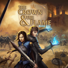 Dom on the cover of The Crown & The Flame, Book 1