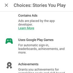 Choices App Info Part II