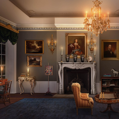 Sitting Room of Ernest Sinclaire's London Townhouse