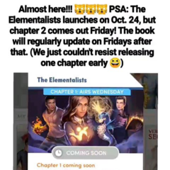 PSA about when The Elementalists will publish new chapters