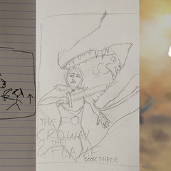 Early sketches of Book 3 Cover