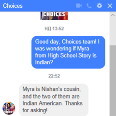 Confirmation of Nishan/Myra's ethnicity