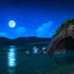 Indonesian Beach at Night