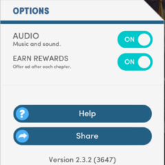 Option to Earn Diamonds After Playing A Chapter