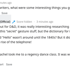 PB's Response to a question about their research for the book