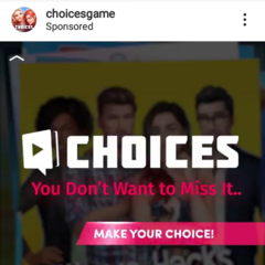 03-08-2019 Choices Ad on Instagram