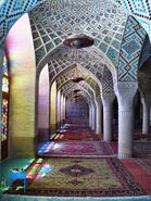 The Nasr ol Molk Mosque in Shiraz, Iran
