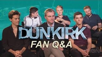 Fan Q&A with Nolan and Dunkirk casts