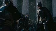 TDKR- Joe Fishel stuntman as Orange-lined policeman between Bane & Batman