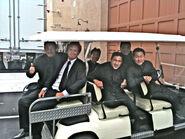 Inception stunt team- James Lew, Mark Fichera, Philip Tan, Roel Failma & Simon Rhee