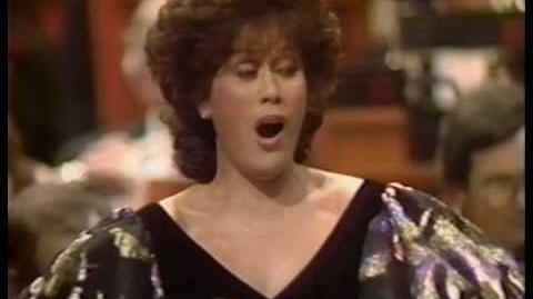 "Dame Kiri Te Kanawa sings ""Angels from the Realms of Glory"""