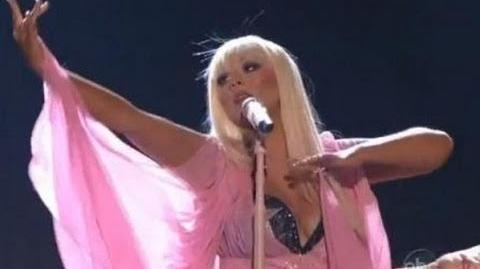 Christina Aguilera - Lotus - Army Of Me - Let there be love LIVE at AMA 2012 Best Performance HD