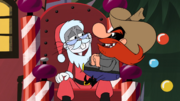 Bugs as Santa