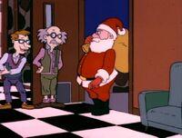 Drew welcomes Santa