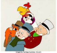 animation cel of porky elmer sam foghorn and pep - Porky Pig Blue Christmas Wikipedia